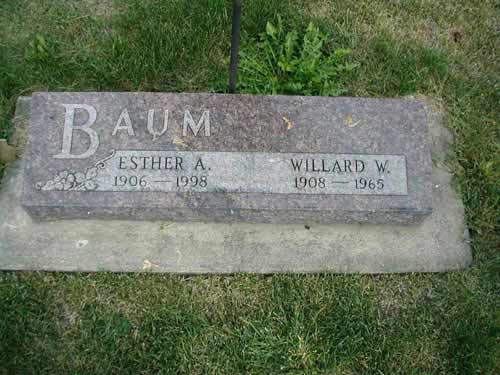 Esther and Willard W. Baum